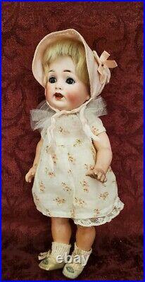 German Antique Bisque Socket Head Doll JDK 260 Sleep Eyes 9 1/2in. 5 PC Toddler