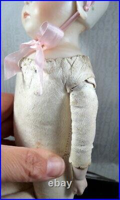 German Gebruder Heubach 15 Bisque Head Bonnet Head Baby Stuart