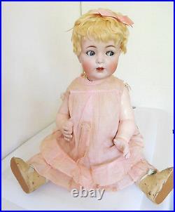 Huge! 24 Hertel Schwab 98 Bisque Socket Head Flirty Eye Toddler All Original