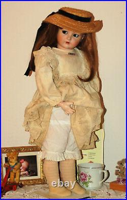 Huge 28 K&R Simon Halbig 117n flirt eyes bisque head doll from 1915