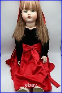 Huge Reproduction Kammer Reinhardt & Simon Halbig 34 Doll Bisque Head Beautiful