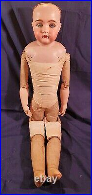 Large 31 Beautiful Bisque Head Antique German Doll Mold Number 177