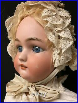 Large Antique German Doll with Bisque Head and Composition Body marked JUTTA