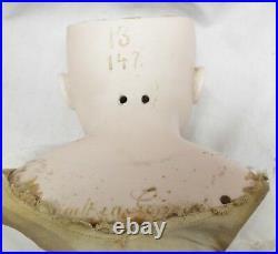 Old Large 24 German Kestner #147 Bisque Head & Hands Cloth Body Doll Sleep Eyes