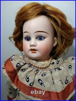 Pretty Antique 15 German Bisque Head Theodore Recknagel Doll R. 41-0 DEP