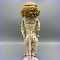 Pretty Closed Mouth German Shoulder Head Doll 14.5 Inches