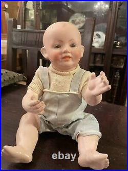 RARE 1800's Antique Bisque Head Baby Doll With Composition Body Close/open mouth