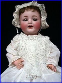 Rare 19 Antiq. Key Wind Mechanism Bisque Head Doll KR Simon Halbig -Work'n