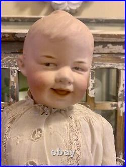 Rare Antique German Gebruder Heubach 7911 Bisque Head Doll 16