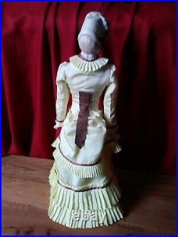 Rare Antique Hertwig German Bisque or Parian Bonnet Head with wonderful dress