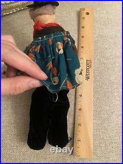 Rare Bisque Head German Character Mystery Man Doll Cuno Otto Dressel Magician