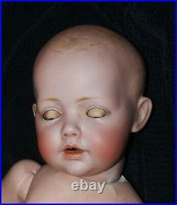 Rare Estate German Bisque Jdk Kestner Hilda Baby Doll -19 1914 Solid Dome Head