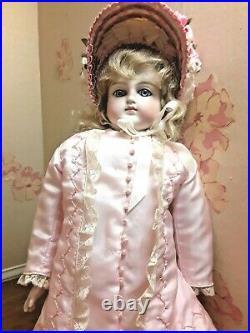 Red$! 17.5. Bisque Girl, Blue Gl. Eyes, Belton Head, Bis Hands, Beaut Dress