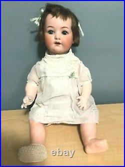 SC Antique Germany Heubach Koppelsdorf Bisque Head Doll 320-7 22 VTG baby