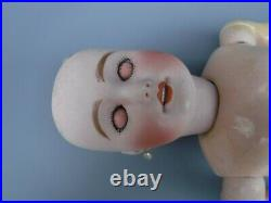 Signed Antique French Bisque Head Doll on German Body 18 Limoges