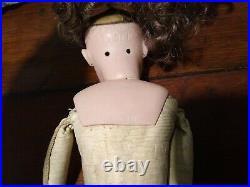 Simon & Halbig Doll Bisque Socket Head, Leather & Cloth Body 1039 18 Antique