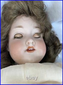 Sweet Antique German Bisque Armand Marseille 390n A6M Socket Head Sleep Eyes 22