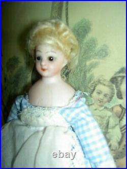 Tiny antique Simon & Halbig 1160 Little Women bisque sh. Head dollhouse 5 doll