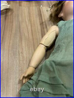 Vintage Antique 1914 Jutta Doll Blonde Girl Child Bisque Head Ceramic with Outfit