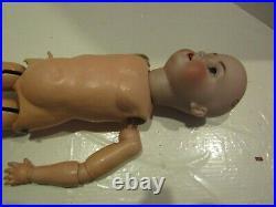 Vintage Doll 24 Inch Simon Halbig K Star R Porcelain Head Moves Composition Body