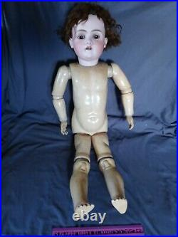 WALKURE DOLL ANTIQUE 34 INCH HUGE Bisque HEAD AND BODY Antique