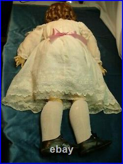 Walkure Doll Antique 35 Inch Huge Head And Body, Great Cond. Beautiful